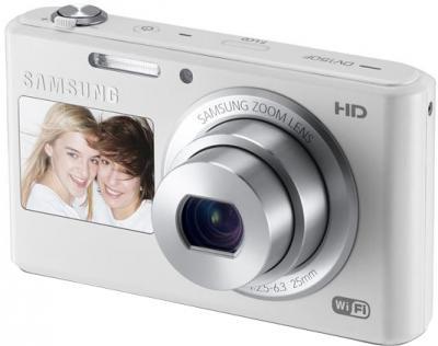 Компактный фотоаппарат Samsung DV150F (EC-DV150FBPWRU) (White) - общий вид