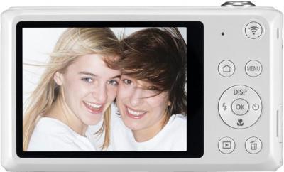 Компактный фотоаппарат Samsung DV150F (EC-DV150FBPWRU) (White) - вид сзади