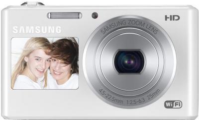 Компактный фотоаппарат Samsung DV150F (EC-DV150FBPWRU) (White) - вид спереди