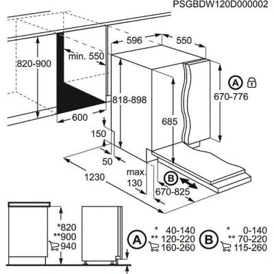 Посудомоечная машина Electrolux ESL6810RO - схема