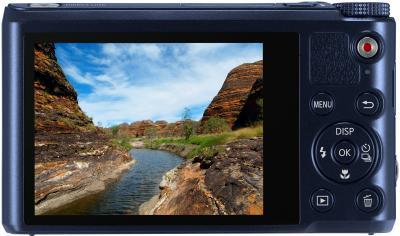 Компактный фотоаппарат Samsung WB200F (EC-WB200FBPBRU) (Black Cobalt) - вид сзади