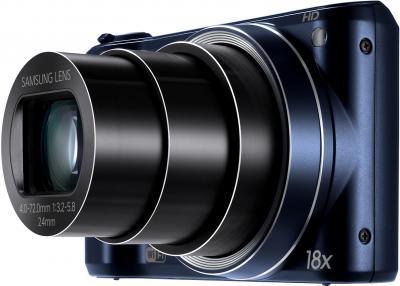 "Компактный фотоаппарат Samsung WB200F (EC-WB200FBPBRU) (Black Cobalt) - объектив в положении ""теле"""