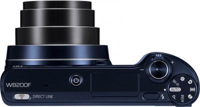 Компактный фотоаппарат Samsung WB200F (EC-WB200FBPBRU) (Black Cobalt) - вид сверху