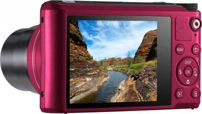 Компактный фотоаппарат Samsung WB200F (EC-WB200FBPRRU) (Red) - дисплей