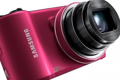 Компактный фотоаппарат Samsung WB200F (EC-WB200FBPRRU) (Red) - общий вид