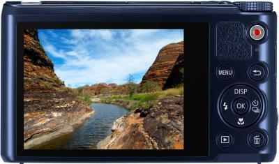 Компактный фотоаппарат Samsung WB250F (EC-WB250FBPBRU) (Black Cobalt ) - вид сзади
