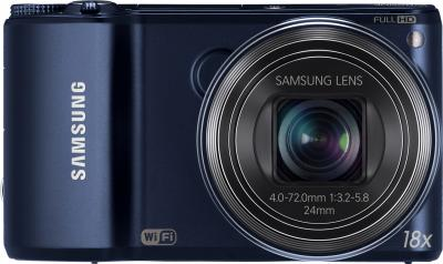 Компактный фотоаппарат Samsung WB250F (EC-WB250FBPBRU) (Black Cobalt ) - вид спереди