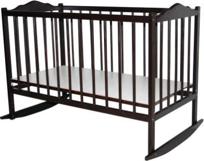Детская кроватка Bambini Э 01.10.01 (Темный Орех) - общий вид