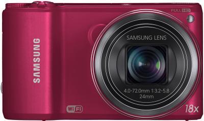 Компактный фотоаппарат Samsung WB250F (EC-WB250FBPRRU) (Red) - вид спереди