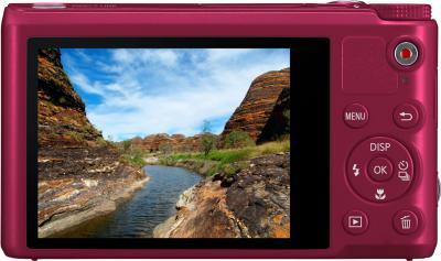 Компактный фотоаппарат Samsung WB250F (EC-WB250FBPRRU) (Red) - вид сзади