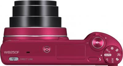 Компактный фотоаппарат Samsung WB250F (EC-WB250FBPRRU) (Red) - вид сверху