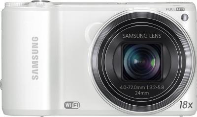 Компактный фотоаппарат Samsung WB250F (EC-WB250FBPWRU) White - вид спереди