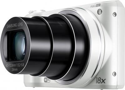 Компактный фотоаппарат Samsung WB250F (EC-WB250FBPWRU) White - общий вид