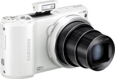 Компактный фотоаппарат Samsung WB250F (EC-WB250FBPWRU) White - вспышка