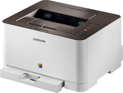 Принтер Samsung CLP-365 - общий вид (открытый лоток)