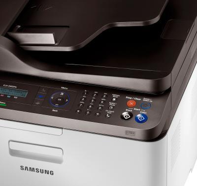 МФУ Samsung CLX-3305FN - панель управления