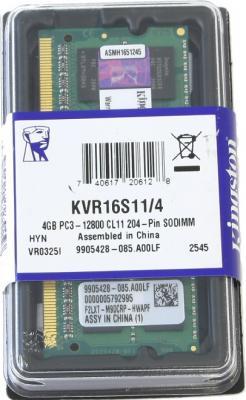 Оперативная память DDR3 Kingston KVR16S11/4BK - упаковка