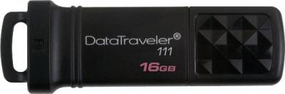 Usb flash накопитель Kingston DataTraveler 111 16Gb Black (DT111/16GB) - общий вид