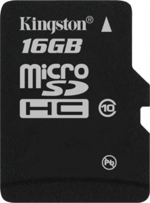 Карта памяти Kingston microSDHC (class 10) 16 Gb (SDC10/16GB) - общий вид