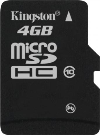 SDC10/4GB + SD адаптер (microSDHC, Class 10, 4 Гб) 21vek.by 113000.000
