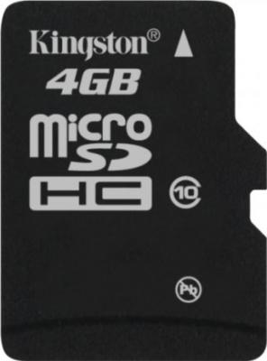 Карта памяти Kingston microSDHC (Class 10) 4GB + адаптер (SDC10/4GB) - общий вид