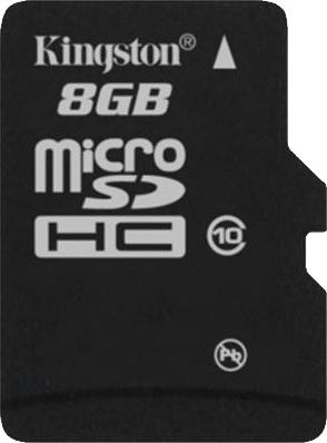 Карта памяти Kingston microSDHC (class 10) 8 Gb (SDC10/8GB) - общий вид