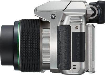 Компактный фотоаппарат Pentax X-5 (Silver) - вид сбоку