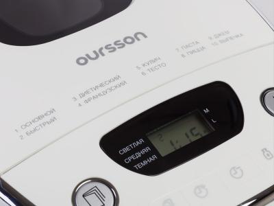 Хлебопечка Oursson BM0800J/OR - панель управления