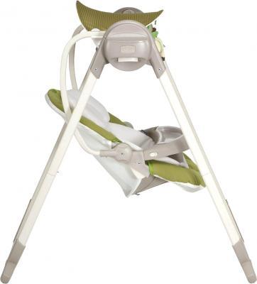Качели для новорожденных Chicco Polly Swing Up (лайм) - вид сбоку