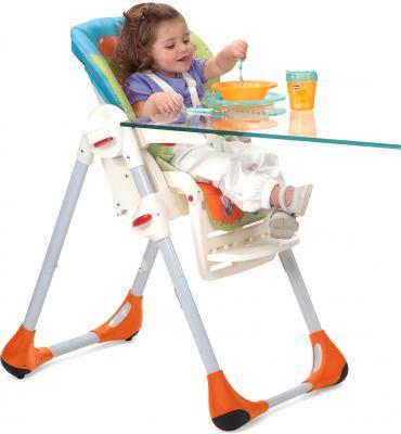 Стульчик для кормления Chicco Polly 2 в 1 (Wood Friends) - ребенок на стульчике
