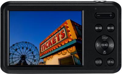 Компактный фотоаппарат Samsung ES95 Black (EC-ES95ZZBPBRU) - вид сзади