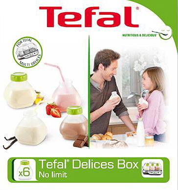 Набор бутылочек для йогуртницы Tefal XF102032 - в упаковке