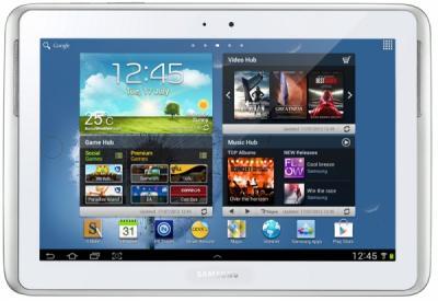 Планшет Samsung Galaxy Note 10.1 32GB 3G Pearl White (GT-N8000) - фронтальный вид