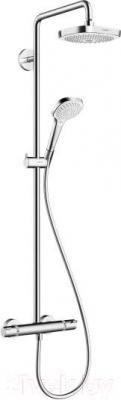 Душевая система Hansgrohe Croma Select E 180 2jet Showerpipe (27256400)