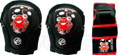 Комплект защиты Powerslide Standard Kids XS 900196 (красный) - общий вид