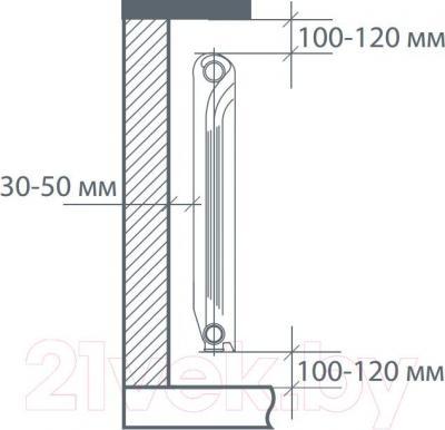 Радиатор алюминиевый Royal Thermo Revolution 500 (8 секций)