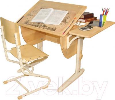 Парта+стул Дэми СУТ 14-12 (бежевый, береза)