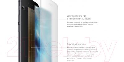 Смартфон Apple iPhone 6s Plus / MKU12RM/A (16GB, серый космос)