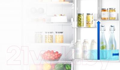 Холодильник с морозильником Samsung RB33J3320SS/WT