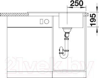 Мойка кухонная Blanco Tolon 45S (520319)