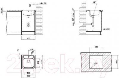 Мойка кухонная Teka Eline 1C CN / 11137005