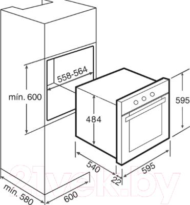 Электрический духовой шкаф Teka HS 610 (черный)