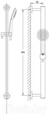 Душевой гарнитур Steinberg Series 100 (100.1621)