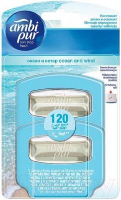 Сменные блоки для освежителя воздуха Ambi Pur Океан и Ветер (2Х5.5мл)