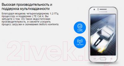 Смартфон Samsung Galaxy J1 LTE / J100FN (черный)