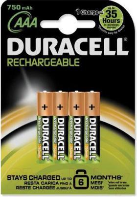 Батарейки ААА Duracell HR03 (4шт, 750mAh)
