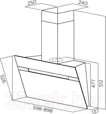 Вытяжка декоративная Elica Stripe WH/A/60/LX