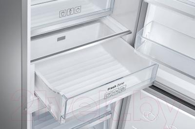 Холодильник с морозильником Samsung RB38J7761SR/WT