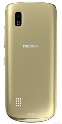 Мобильный телефон Nokia Asha 308 Golden Light - вид сзади