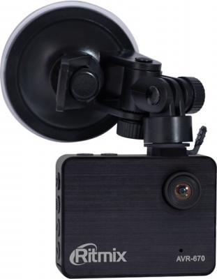 Автомобильный видеорегистратор Ritmix AVR-670 - общий вид с креплением